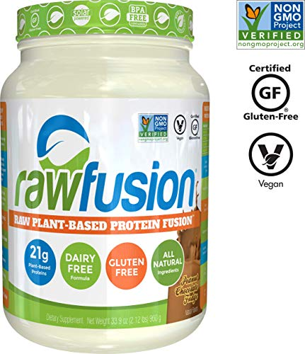Ultra Elite Digest - SAN Nutrition RawFusion Plant Protein Powder, Peanut Chocolate Fudge, 32.9 Ounce, Pack of 1