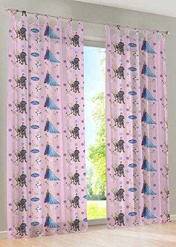 Disney Eiskönigin - Schlaufengardine Dekoschal Gardine Vorhang Schlaufenschal Deko fürs Kinderzimmer - 145 x 245 cm - Farbe: Pink von Brandseller