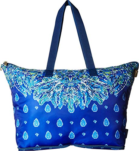 Bright Tote - Lilly Pulitzer Women's Getaway Packable Tote Bright Navy Showdown Engineered One Size