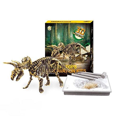 (Dinosaur Excavations Kits - Unearth 3D Dinosaur Bones - Triceratops)