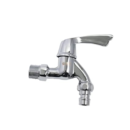 Gentil KRUDE Single Handle Faucet, Wall Mounted Bathtub Washing Machine Garden  Faucet,Chrome Finish