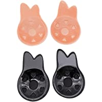 Healifty Pegatinas para Senos Invisible Silicone Breast Pasties 2Pairs (9.5CM)