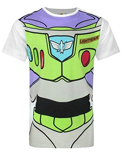 [Disney Toy Story Buzz Lightyear Costume Men's T-Shirt (M)] (Buzz Lightyear Shirt Costume)