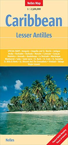 Caribbean Lesser Antilles map (Nelles Map) (English, French, Italian and German Edition)