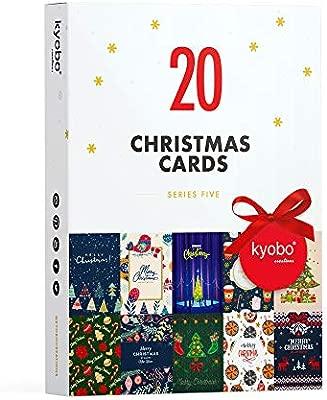 Kyobo Creations - Lote de 20 tarjetas de Navidad de la serie 5 (10 ...