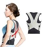 Kyпить Sports Posture Corrector Back Braces Support for Women & Men, Adjustable Clavicle Support for Upper Back Correction - L на Amazon.com