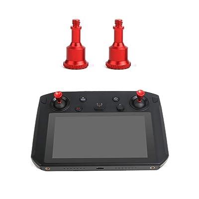 RC GearPro 1 Pair Aluminum Alloy Remote Controller Joysticks Thump Rocker for DJI Mavic 2 Pro/ Zoom Smart Controller (red): Toys & Games