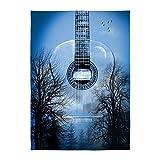 CafePress - Guitar - Decorative Area Rug, 5'x7' Throw Rug