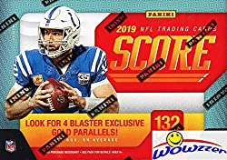 Wowzzer! Super Hot! Brand New! This Product Features the First officially NFL licensed Rookie Cards from the Amazing Loaded 2019 NFL Rookie Class! We are Proud to offer this 2019 Score NFL Football HUGE EXCLUSIVE Factory Sealed Blaster Box! This Amaz...