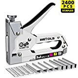 Tools & Hardware : WETOLS Staple Gun, Heavy Duty Staple Gun, 3 in 1 Manual Nail Gun with 2400 Staples(D, U and T-type), for Upholstery, Material Repair, Carpentry, Decoration, Furniture, DIY - DY808