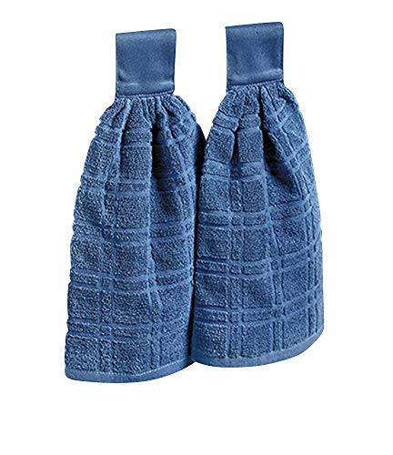 (The Lakeside Collection Set of 2 Kitchen Towels - Indigo)