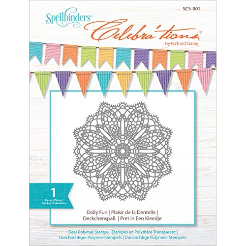 Spellbinders Celebrations Doily Fun Stamp Set Doily Lace Ink Pad