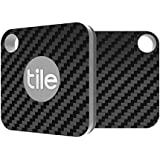 Tile Mate Skin - Black Carbon Fiber Premium Skin by Aretty (2 - Pack)
