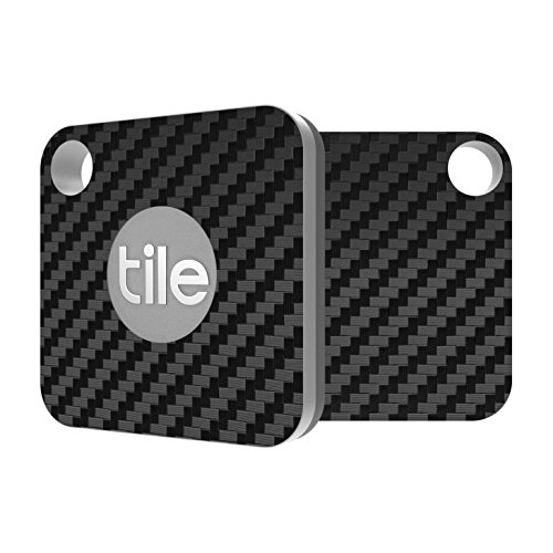 Tile Mate Skin - Black Carbon Fiber Premium Skin by Aretty (2 - Pack) (Ink Tiles)