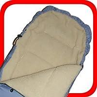 Baby Universal Fußsack, 100% Lammwolle, hellblau