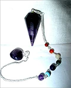 Jet Exquisite Amethyst Cone Shaped Pendulum Top Quality A++ Gemstone Healing Reiki Chakra Balancing