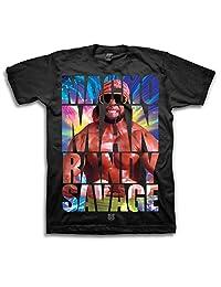WWE Macho Man Randy Savage Image In Text Adult Black T-Shirt