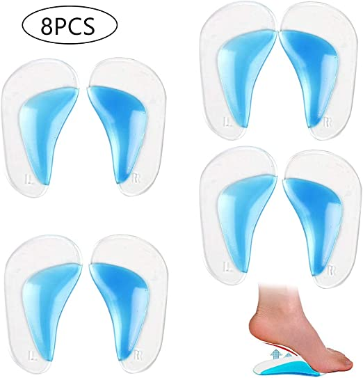 Silica Gel Arch Support Flat Feet Cushion Pad Women High-Heel Shoe Insole Insert
