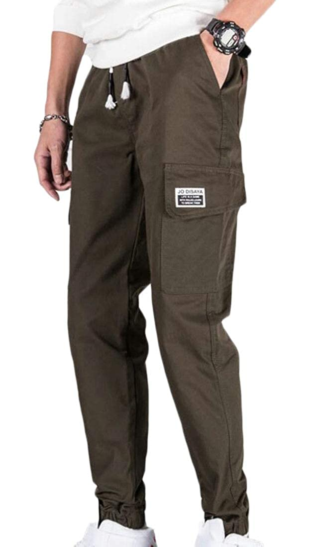 WSPLYSPJY Mens Casual Military Army Cargo Pants Combat Work Trouser