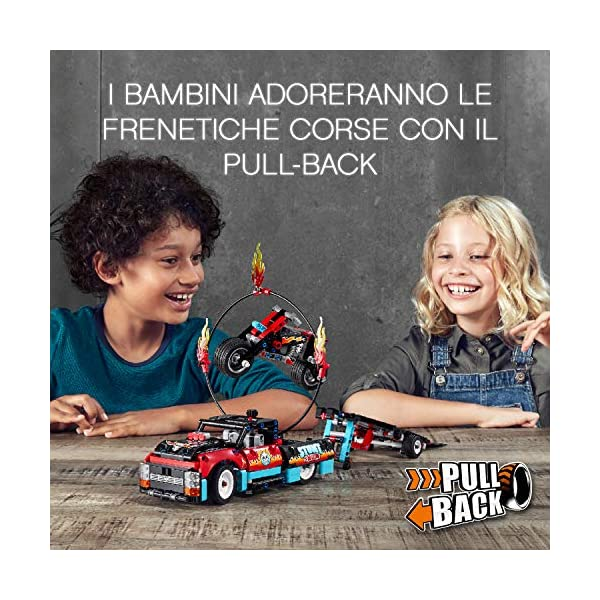 """LEGO Technic Truck e Moto dello Stunt Show, con Azione """"pull-Back"""", con 2 Modelli da Costruire ed Infinite Possibilità di Gioco, per Ragazzi +8 Anni, Appassionati e Collezionisti, 42106 3 spesavip"""
