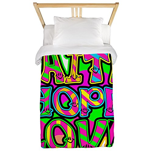 Twin Duvet Cover Faith Hope Love Neon by Royal Lion