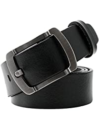 WERFORU Vintage Leather Belts for Real Men Simple Casual Soft Designer Belt With Pin Buckle