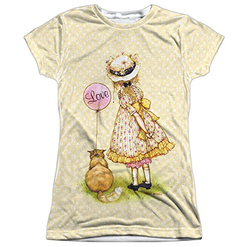 holly-hobbie-1960s-american-greetings-party-junior-2-sided-print-t-shirt