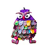 Ethnic Style Handmade Special Kids Backpack Durable Owl Whimsical BackpackPurple