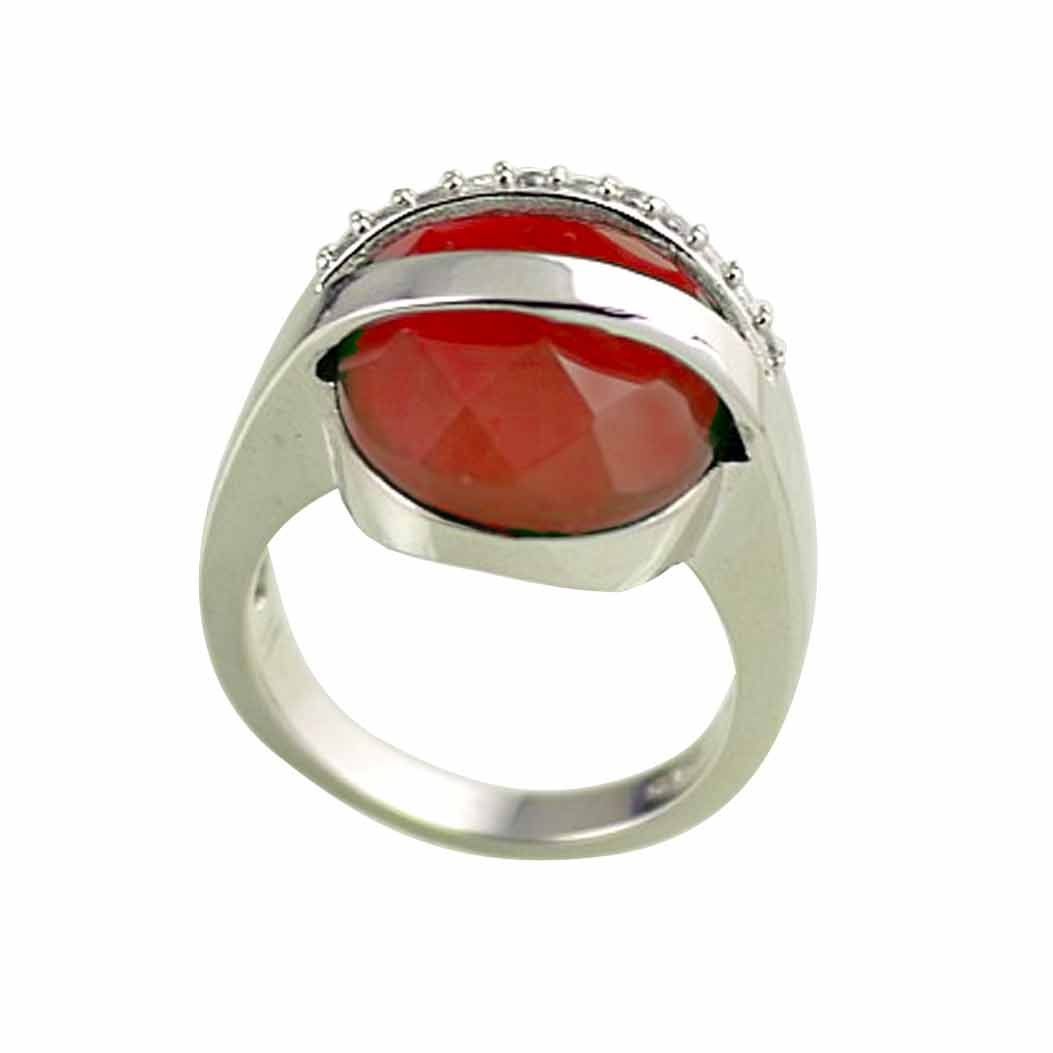 36d35e7f683e Mes-Bijoux-Bracelets Anillo Solitario Chapado en Plata Sterling 925 Joya  Moda Ágata Circonita Mujer Rojo Talla 18 wz-A0188  Amazon.es  Joyería