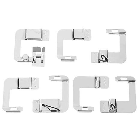 Henreal 7 Piezas de máquina de Coser doméstica prensatelas para pies de Dobladillo Enrollado para Accesorios