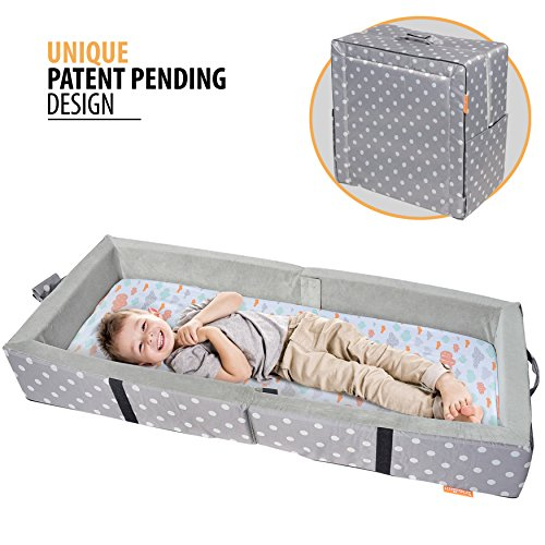 Lowest Prices! Milliard Portable Toddler Bumper Bed | Folds for Travel