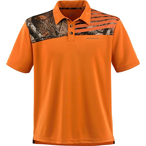 Mens Fast Lap Polo Burnt Orange Large ()