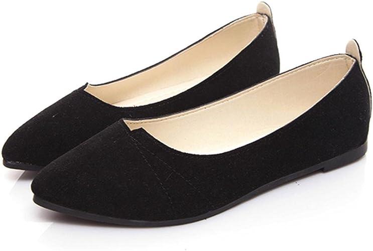 Flats Ladies Comfy Shoes Soft Slip-On