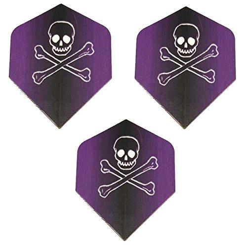 - Art Attack Unicorn Maestro Purple Jolly Roger Ghost Skull Crossbones 100 Micron Extra Strong Dart Flights (1 Set)