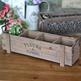 L;IAN Flower Pot Rack American Style Village Storage Tray Flower Implement Decoration Home Decoration Wood, 19.13.94.7 inch