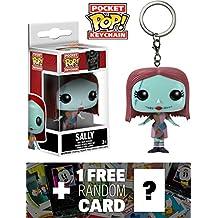 Sally: Pocket POP! Keychain x Disney The Nightmare Before Christmas Vinyl Figure + 1 FREE Classic Disney Trading Card Bundle [53161]