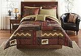 Southwest Cabin Bear Lodge Full Comforter Set (8 Piece Bed In A Bag)
