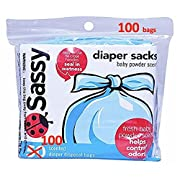 Sassy Disposable Scented Diaper Sacks, 100 Count