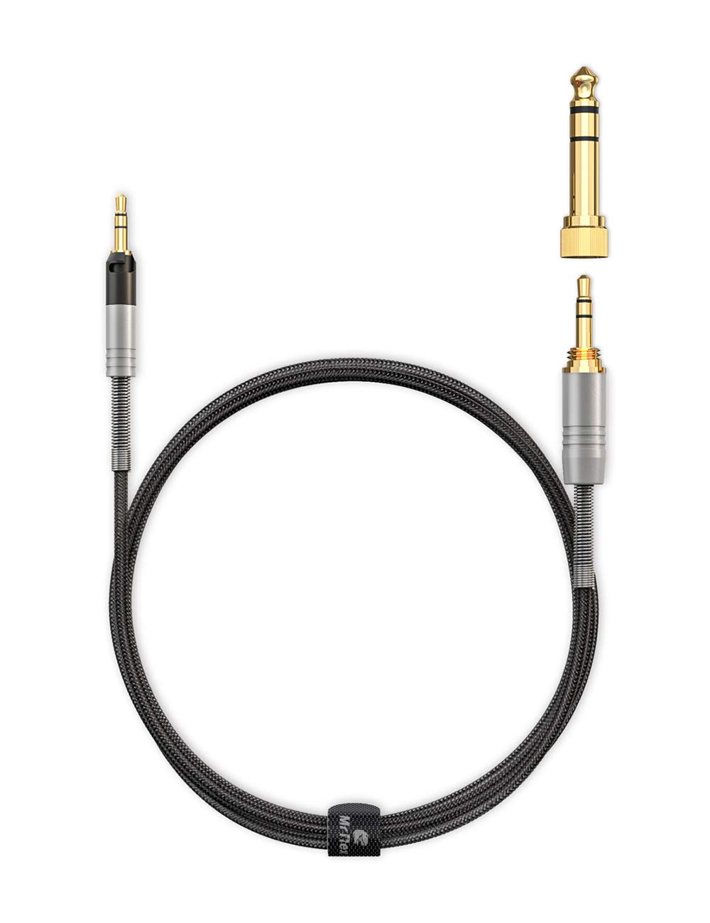 Mr Rex 5ft Upgraded 3.5mm to 2.5mm Aux Cable Braided Audio Cord with 6.35mm Adapter Compatible with Bose 700 QuietComfort QC35 QC35ii QC25 /& Audio Technica ATH-M50x ATH-M40x ATH-M70x Headphones