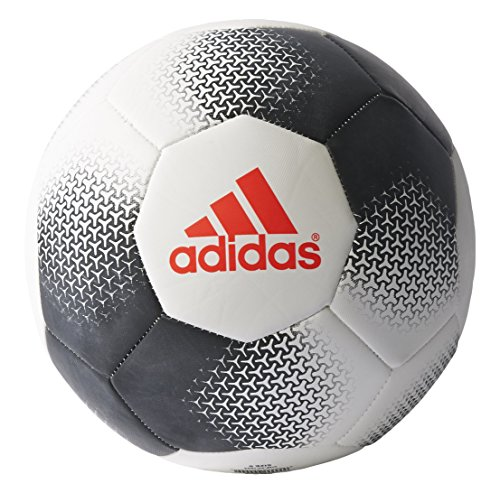 adidas Performance Ace Glider Soccer Ball, White/Black/Solar Red, Size 3 (Soccer Ball Red)