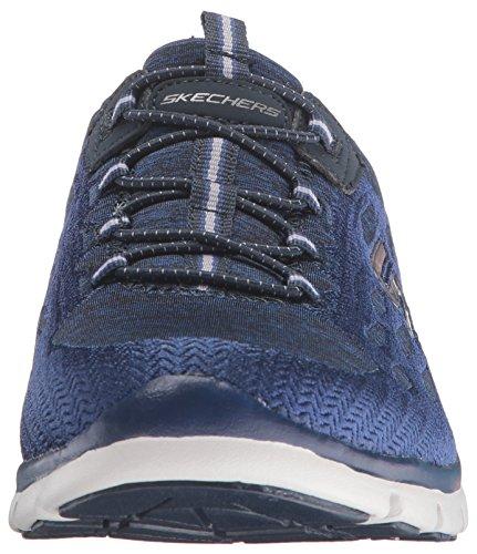 Skechers Sport Damen Gratis Blissfully Fashion Sneaker, Navy / White