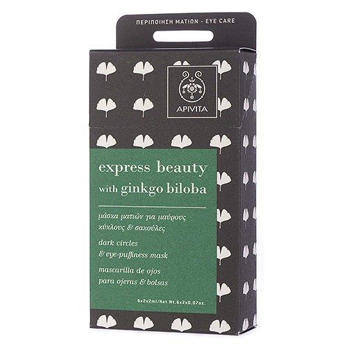 - Apivita Express Beauty Dark Circles & Eye Puffiness Mask with Ginkgo Biloba