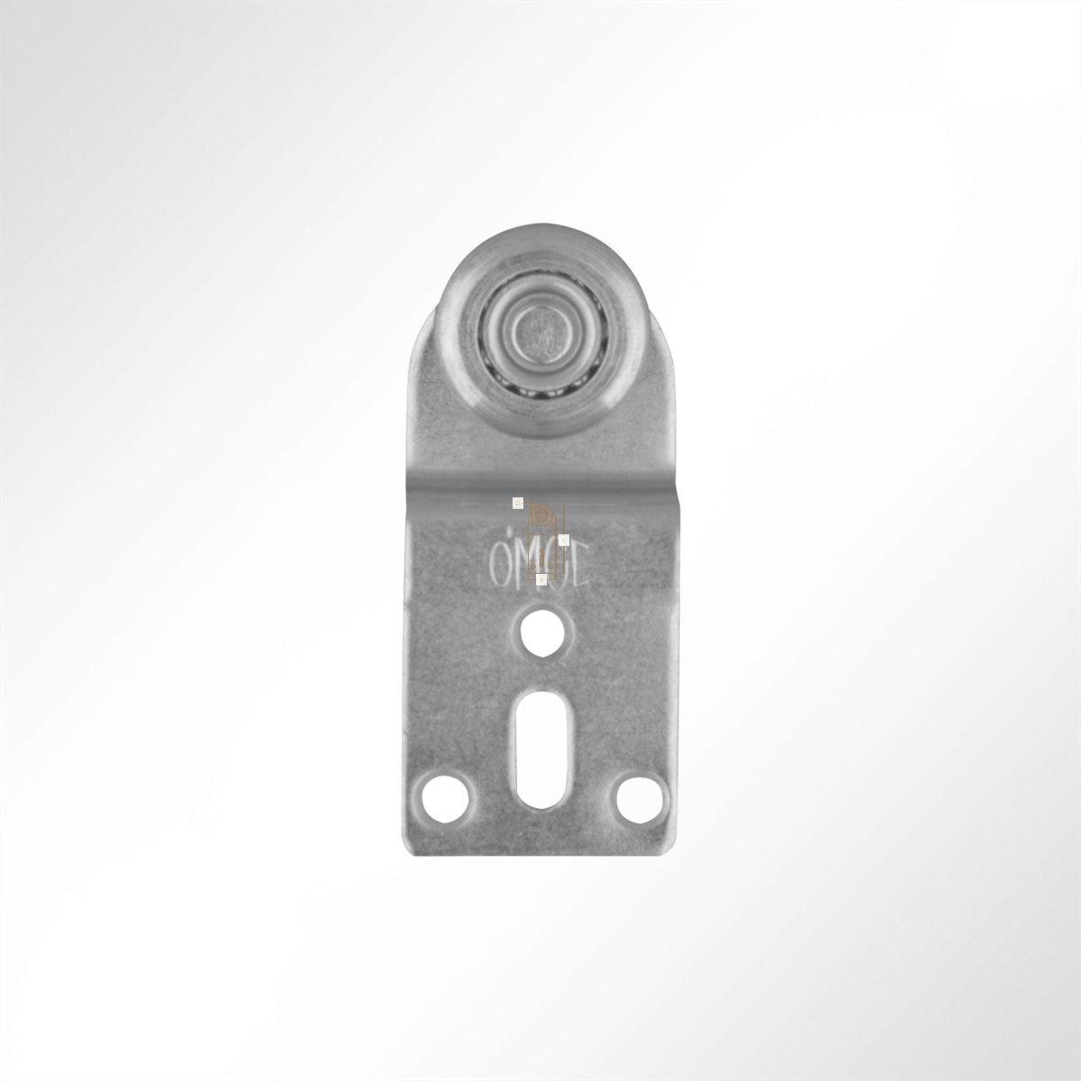 LYSEL Laufrolle F/ührungsrollen Laufwagen Rollenlaufwerk mit versetzter Platte Kugellager 35 Kg Laufschiene 1 St/ück