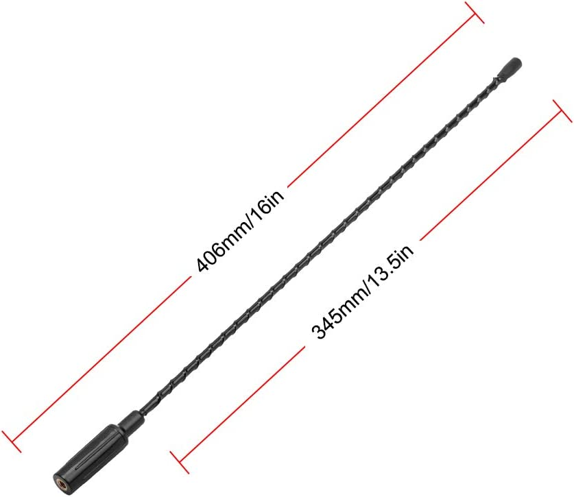 VOFONO 16 Inch Replacement Antenna fits 2009-2019 Ford F150 & Dodge Ram 1500