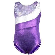 Jlong Girls Ribbon Gymnastic Training Bodysuit Sleeveless Ballet Dance Leotard