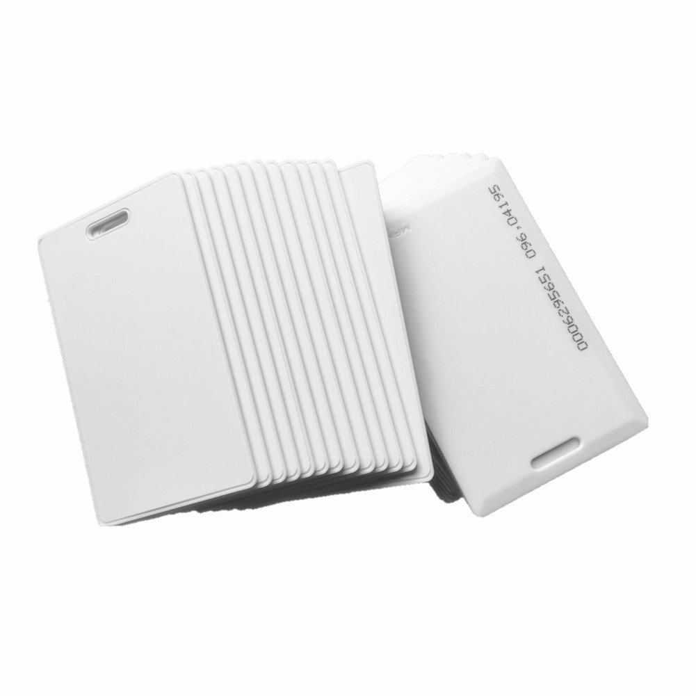 20PCS 125khz RFID EM4100 TK4100 Clamshell Card 1.8mm Thickness ISO Standard Proximity ID Card With 64 bits EEPROM For Door Access System Switch Power