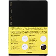 STALOGY 018 Editor's Series 1/2 Year Notebook (A5//Black)