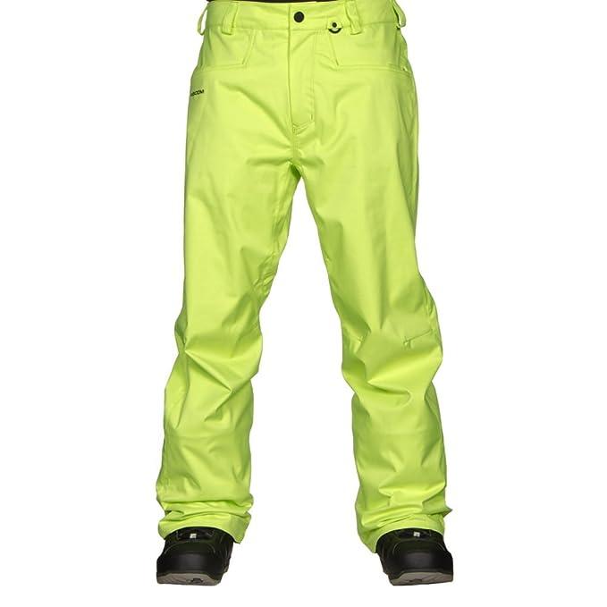 Pantalón de snow Volcom amarillo fosforito