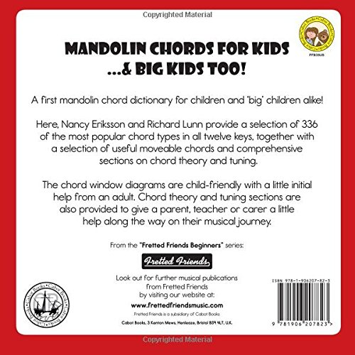 Amazon Mandolin Chords For Kids Big Kids Too Fretted