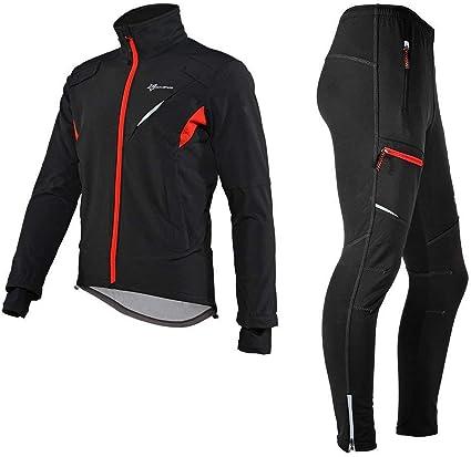 Longue Pantalon V/élo VTT Homme Femme Coupe Imperm/éable Thermique R/éfl/échissant Noir M-4XL ROCKBROS Cyclisme Veste Polaire Hiver